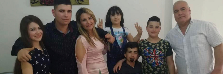Serina Saka with family